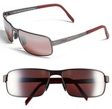 Maui Jim Men's 'Castaway - Polarizedplus2' 63Mm Polarized Sunglasses - Dark Gunmetal