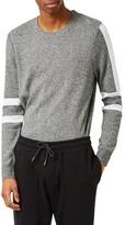 Topman Men's Stripe Sleeve Crewneck Sweater