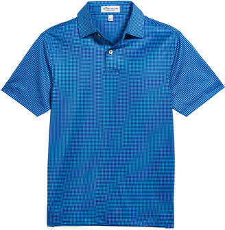 Peter Millar Boy's Stanbury Gingham Print Polo Shirt, Size XS-XL