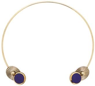 Anton Heunis 'Lily Pad' vintage stones necklace