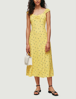 Whistles Forget Me Not floral-print crepe midi dress
