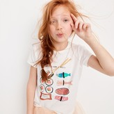 """J.Crew Girls' """"This is How I Roll"""" sushi T-shirt"""