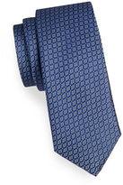 Black Brown 1826 Small Square Silk Tie