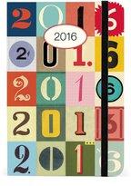 Cavallini & Co. Cavallini AG2016/123 2016 Numbers Weekly Planner
