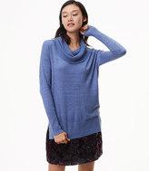 LOFT Heathered Cowlneck Tunic Sweater