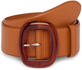 Prada Tortoiseshell Effect Buckle Belt
