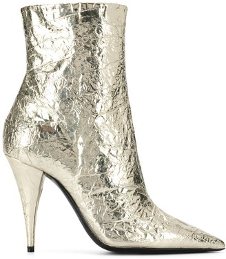 Saint Laurent Metallic Ankle Boots