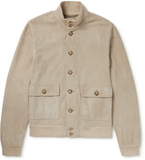 Thumbnail for your product : Valstar Valstarino Slim-Fit Suede Bomber Jacket