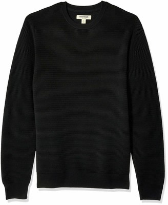 Goodthreads Amazon Brand Men's Soft Cotton Ottoman Stitch Crewneck Sweater