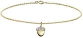 Minor Obsessions Diamond Acorn Bracelet - 10 Karat Gold