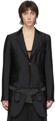 Comme des Garcons Black Garment-Treated Buckle Blazer