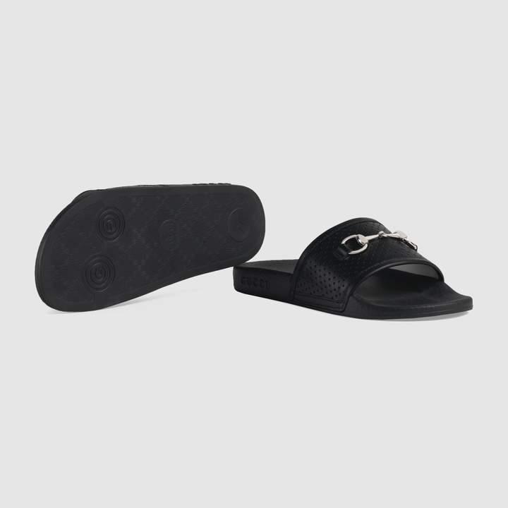 Gucci Children's Horsebit leather slides