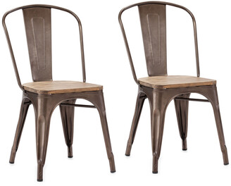 ZUO Set Of 2 Elio Chairs