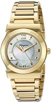 Salvatore Ferragamo Women's FI1940015 VEGA Yellow Gold Ion-Plated Watch