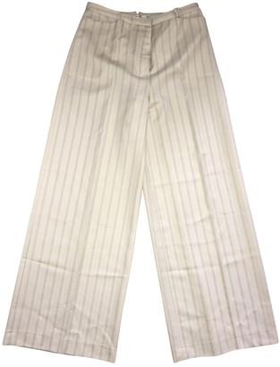 Christian Dior Beige Wool Trousers