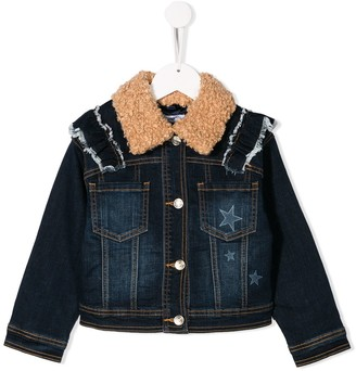 MonnaLisa Sequinned Mouse Denim Jacket