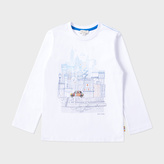 Paul Smith Boys' 7+ Years White City Mini Print 'Marvel' Top