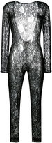 MSGM fitted lace jumpsuit - women - Polyamide/Spandex/Elastane/Viscose - 40