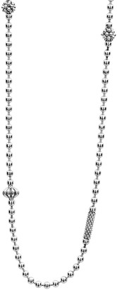 Lagos Caviar Icon Fluted Station Necklace