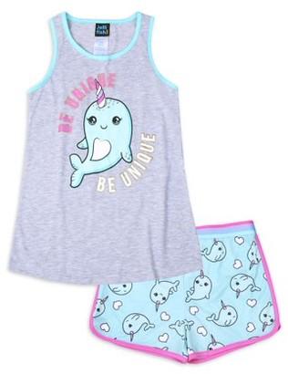 Jellifish Kids Girls 2-Piece Pajama Set Sizes 4-16
