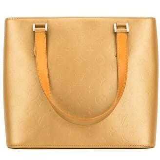 Louis Vuitton Houston Gold Patent leather Handbags