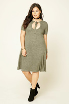 Forever 21 FOREVER 21+ Plus Size Marled T-Shirt Dress