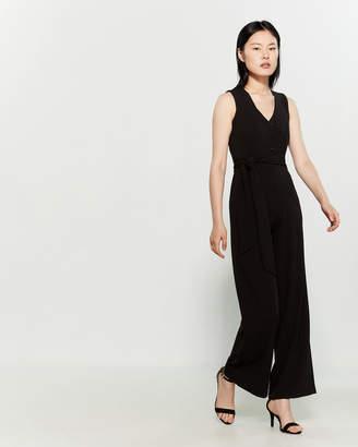 Bebe Black Faux Button Front Jumpsuit