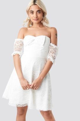 Trendyol Bow Detailed Mini Dress White