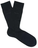 HUGO BOSS George Mercerised Cotton Socks - Navy