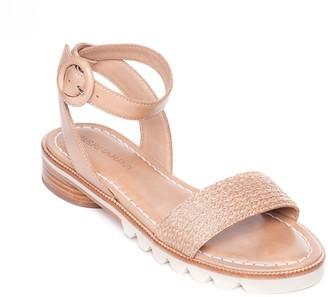 Bernardo Adjustable Strap Sandals - Alexis Raffia