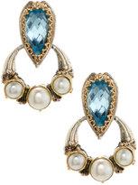 Konstantino Amphitrite Topaz & Pearl Drop Earrings