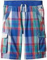 Joules Kids Plaid Cargo Shorts Boy's Shorts