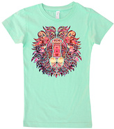 Micro Me Mint Geometric Lion Tee - Infant Toddler & Girls