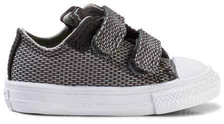 Converse Grey Chuck Taylor All Star II Infants Velcro Trainers