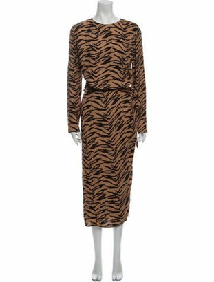 Reformation Animal Print Long Dress w/ Tags