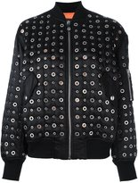Alexander Wang grommet embellished bomber jacket