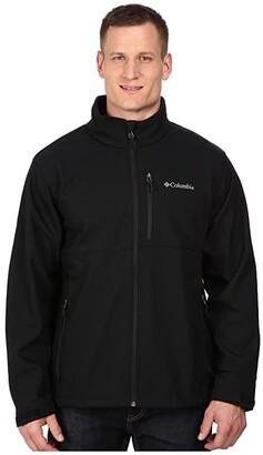 Columbia Plus Size Ascendertm Softshell Jacket (Black) Men's Coat