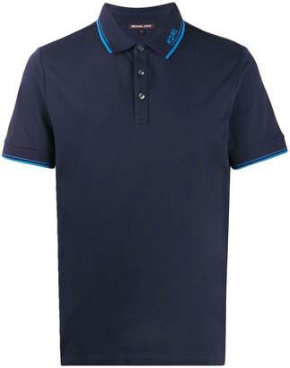 Michael Kors stripe detailed polo shirt