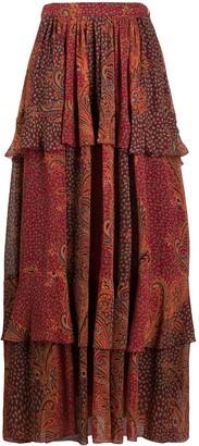 Etro Paisley-Print Maxi Skirt