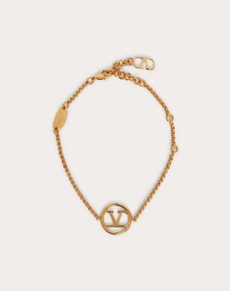 Valentino Vlogo Signature Metal Bracelet Women Gold Brass 100% OneSize