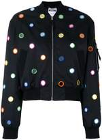Moschino mirror embroidered bomber jacket