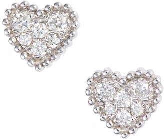 Bony Levy Icons Diamond Pave Heart Earrings