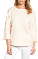 Caslon Tie Sleeve Sweatshirt (Regular & Petite)