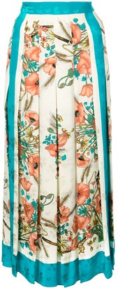 Gucci Floral Print Pleated Skirt