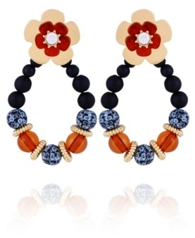 Nanette Lepore Front Facing Beaded Hoop Earring