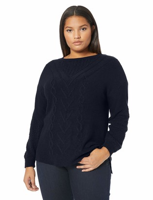 Lucky Brand Women's Plus Size Cable Knit Sweater