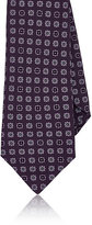 Kiton Men's Floral-Medallion Silk Necktie-PURPLE