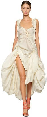 DSQUARED2 Adjustable Draped Silk Voile Dress
