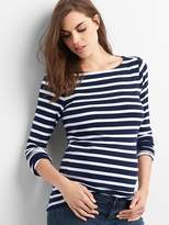 Gap Maternity modern stripe boatneck tee