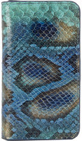 Barneys New York PEACOCK PYTHON PHONE CASE